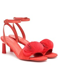 Mercedes Castillo Oraley Leather And Suede Sandals Pink