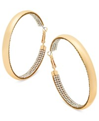 Thalia Sodi Gold Tone Pave Hoop Earrings Only At Macy's