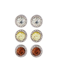 Fragments For Neiman Marcus Round Crystal Stud Earring Trio Set Of Three