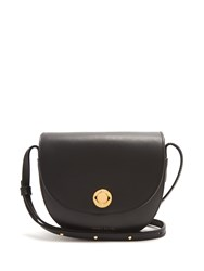 Mansur Gavriel Mini Saddle Leather Cross Body Bag Black