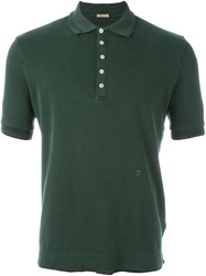 Massimo Alba Ribbed Collar Polo Shirt Green