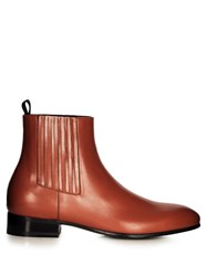 Balenciaga Leather Chelsea Boots Brown