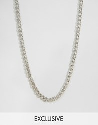 Reclaimed Vintage Long Chain Necklace In Silver Silver