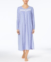 Charter Club Printed Fleece Nightgown Created For Macy's Iolite Dot