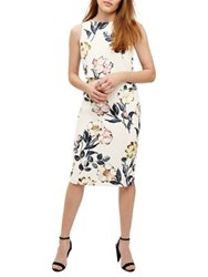 Phase Eight Peony Floral Printed Dress Ivory