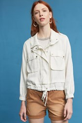 Anthropologie Imani Anorak White