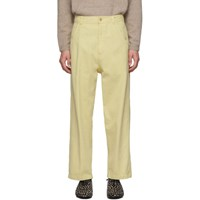 Haider Ackermann Yellow Workwear Trousers