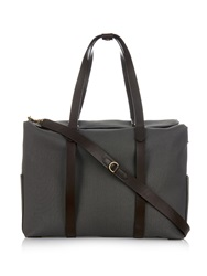Mismo M S Mega Tote Canvas And Leather Bag