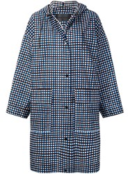 Christian Wijnants Chizu Checked Raincoat Blue