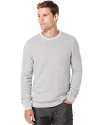 Perry Ellis Textured Crew Neck Sweater Cannon Heather