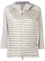Save The Duck Hood Padded Jacket Neutrals