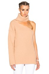 Baja East Fisherman Rib Wool Cashmere Sweater In Neutrals