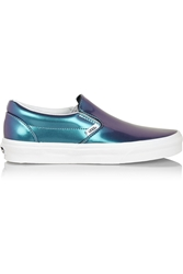 Vans Holographic Leather Slip On Sneakers