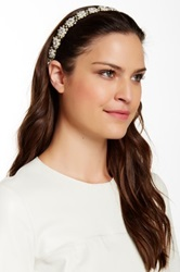 Natasha Accessories Beaded Headwrap Beige
