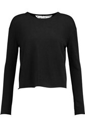 Red Valentino Cashmere And Silk Blend Sweater Black