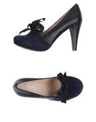 Jancovek Moccasins With Heel Dark Blue