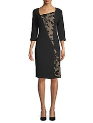 Rene Ruiz Crepe And Sequin Cocktail Dress Black