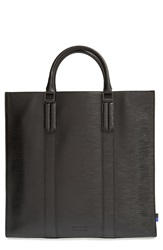 Ben Minkoff Embossed Leather Tote Black