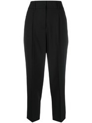 Dorothee Schumacher Ambition Cropped Trousers Black