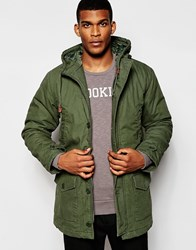 United Colors Of Benetton Parka With Quilted Lining Khaki1d1