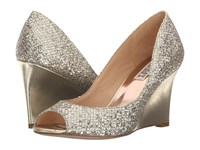 Badgley Mischka Awake Platino Glitter Women's Wedge Shoes Gold
