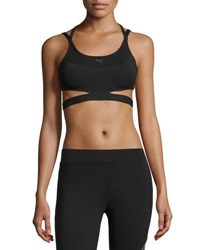 Puma Pwrshape Future Strappy Back Mid Impact Sports Bra Black