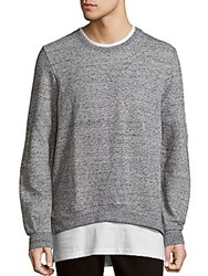Eleven Paris Rayer Marled Crewneck Pullover Trouble Grey