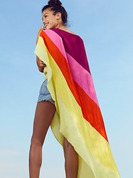 Free People Neon Rainbow Asymmetrical Kaftan By