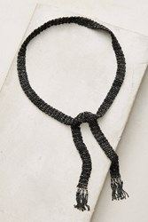 Anthropologie Mavis Woven Wrap Necklace Black