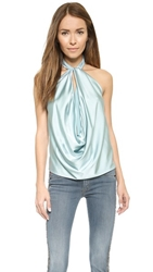 Ramy Brook Harriet Halter Top Hazy Sky