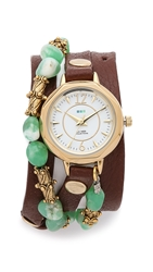 La Mer Jaipur Wrap Watch Brown Green