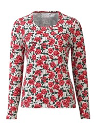 Tulchan Rose And Berry T Shirt Red