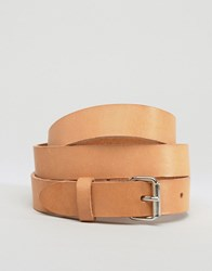 Weekday Leather Jean Belt In Natural Natural Tan