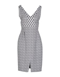 Genny Dresses Knee Length Dresses Women Light Grey