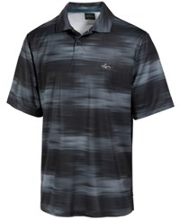 Greg Norman For Tasso Elba Men's Performance Mono Halftone Print Polo Only At Macy's Before Dark