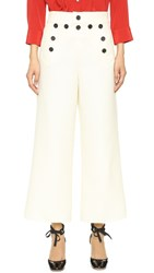 Marc Jacobs Cropped Wide Leg Sailor Pants White
