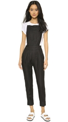 Band Of Outsiders Colorblock Overalls Black