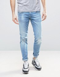 Replay Anbass Slim Stretch Jean Ice Blue Wash Blue
