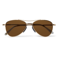 Eyevan 7285 Metal Aviator Sunglasses Brown