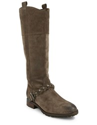 Belle By Sigerson Morrison Lyle Suede Knee High Boots Olive