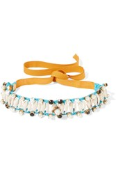 Erickson Beamon Shell And Multi Stone Necklace Azure