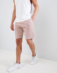 New Look Jersey Shorts In Light Pink Mid Pink