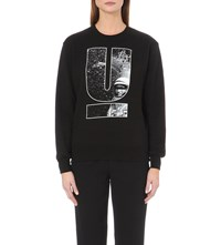 Undercover Space Cotton Jersey Sweatshirt Black