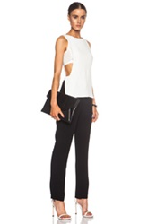 A.L.C. Landon Viscose Blend Jumpsuit In Black White