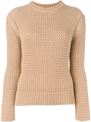 Joseph Crew Neck Jumper Nude And Neutrals