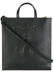 Gucci Blind For Love Bee Embossed Tote Black