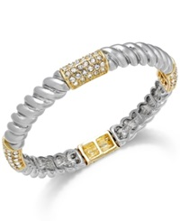 Alfani Two Tone Crystal Pave Twist Stretch Bracelet