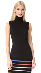 Lela Rose Sleeveless Turtleneck Black