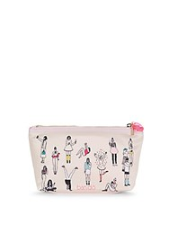 Ban.Do Printed Top Zip Pouch White