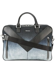 Diesel 'Mr V Brief' Briefcase Blue